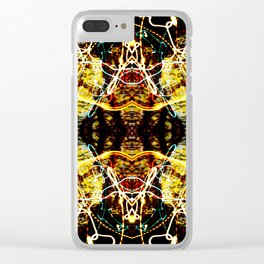 Chaos Tree Kaleidoscope 4 Clear iPhone Case
