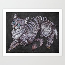 the Cheshire Cat art print Art Print