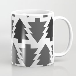 Gothic christmas trees | Grey | Trees | Pines Coffee Mug