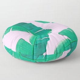 Banana Palm, muck and teal Floor Pillow
