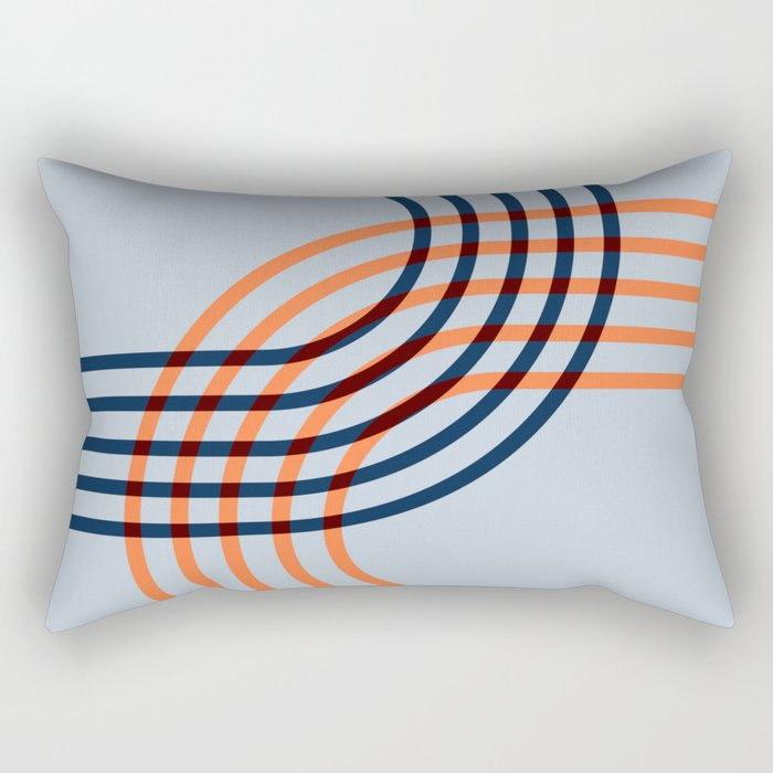Counterbalance - orange blue Rectangular Pillow