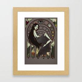 Queen of Darkness Framed Art Print