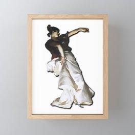 Dancer - Woman Dancing - Design Framed Mini Art Print