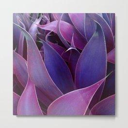 Leaves Abstract Magenta Pink Purple Metal Print