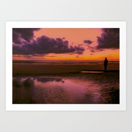 Another place at sunset Art Print