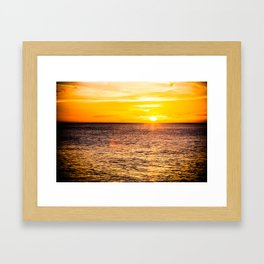 Hawaii Sunset Framed Art Print