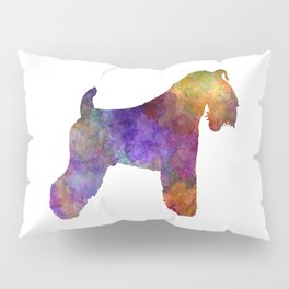Kerry Blue Terrier 01 in watercolor Pillow Sham