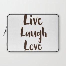 Live Laugh Love vintage brushstrokes Laptop Sleeve