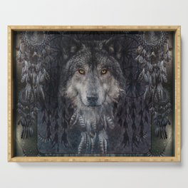The Winter is here - Wolf Dreamcatcher Serving Tray