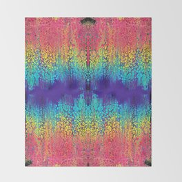 Rainbow Rain Throw Blanket