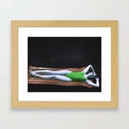 Space Swim Framed Art Print