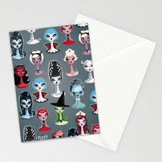 Spooky Dolls Pattern Stationery Cards