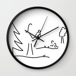 biologist boy scout naturalist Wall Clock