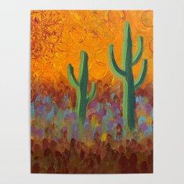 Saguaros Dreaming Poster