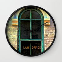 law Wall Clocks featuring Law Office by Biff Rendar