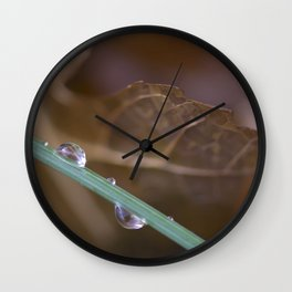 Drops Wall Clock