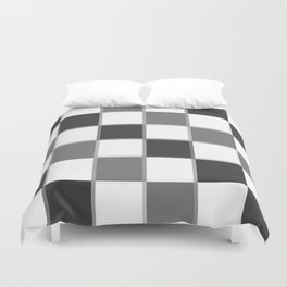 Slate & Gray Checkers / Checkerboard Duvet Cover