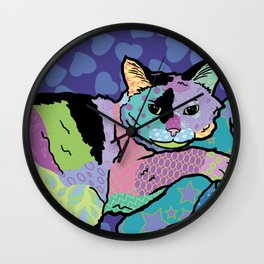 Cat Pattern Portrait Wall Clock