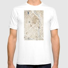 Los Angeles California City Map Mens Fitted Tee MEDIUM White