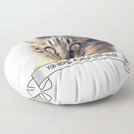 Killer Cats You Inspire My Inner Serial Killer Funny Cat Lover Gift Floor Pillow
