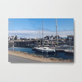 Let's Go Boating Metal Print