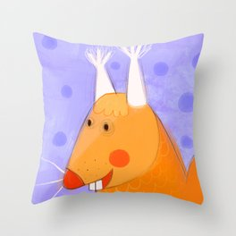 Berry Squirell Throw Pillow