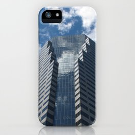 Building in blue iPhone Case