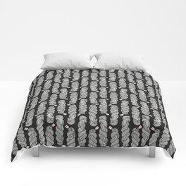 Yarn Crafter Skein Love White on Black Comforters