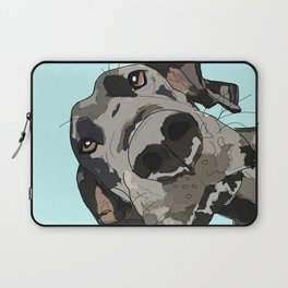 Great Dane in your face (teal) Laptop Sleeve