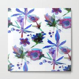 Blueberry Kush Metal Print
