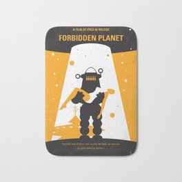 No415 My Forbidden Planet minimal movie poster Bath Mat
