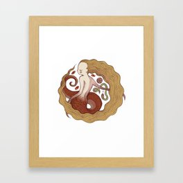 Copper Naga Framed Art Print