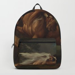 George Stubbs - A Lion Attacking a Horse Backpack