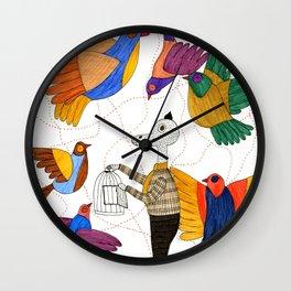 Mr.Master setting the birds free Wall Clock