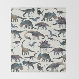 Dinosaurs Pattern Throw Blanket