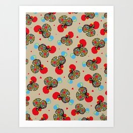Rooster of Barcelos | Portuguese Lucky Charm Art Print