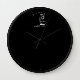 Macintosh on black Wall Clock