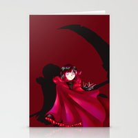 rwby Stationery Cards featuring RWBY - The Grimm Reaper by nerdgasmz