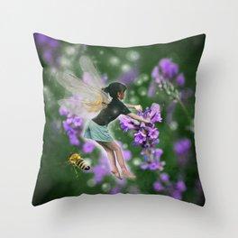 Lavender Fairy Throw Pillow