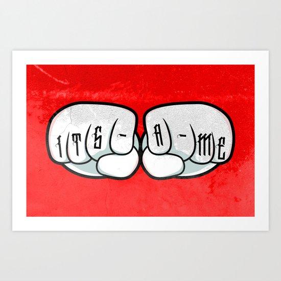 ITS-A-ME Art Print