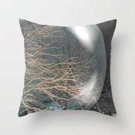Snowglobe Throw Pillow