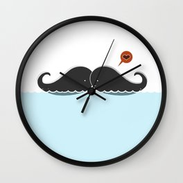 Moostache  Love Wall Clock