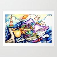 Fish Overload Art Print