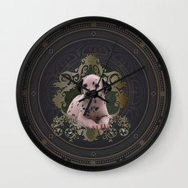 Cute dalmatian Wall Clock