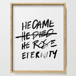 #JESUS2019 - Came Died Rose Eternity 3 Serving Tray