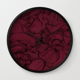 Rose Petal Red Wall Clock