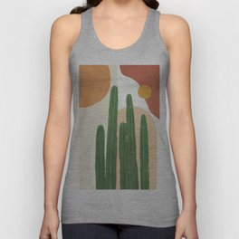 Abstract Cactus I Unisex Tank Top