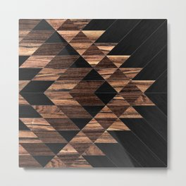 Urban Tribal Pattern No.11 - Aztec - Wood Metal Print