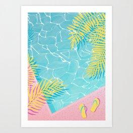 Tropical pool chill Art Print