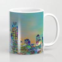 karu kara Mugs featuring Graffiti City by Klara Acel